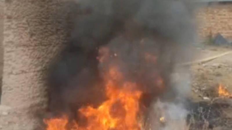В Ак-Ордо местные жители жгут смолу. Видео очевидца