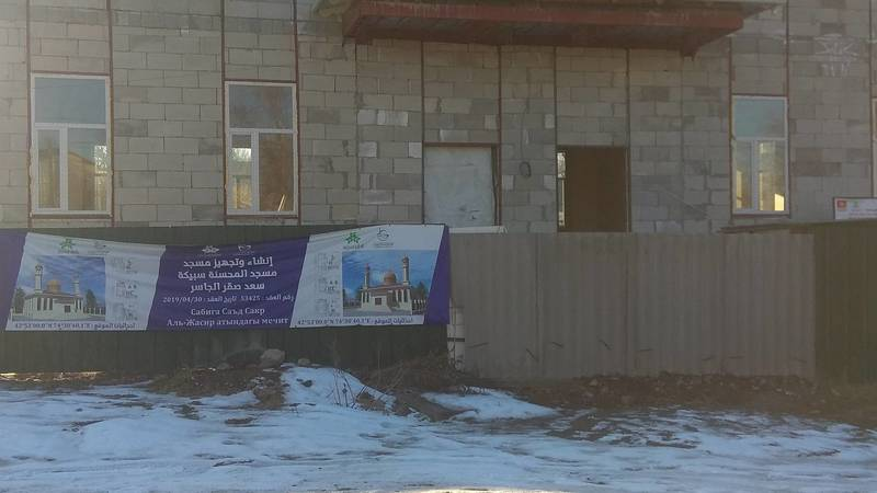 Строительство мечети на Пишпеке идет не по проекту, - местный житель