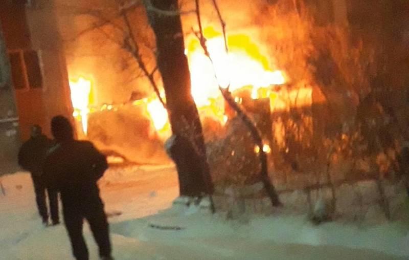 В 5 микрорайоне сгорел павильон