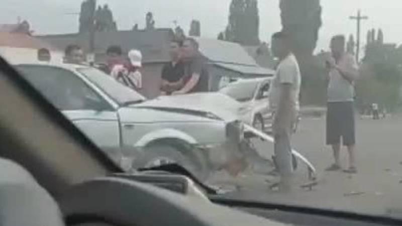ДТП в Полтавке. Видео с места аварии