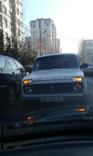 Водитель поехал против направления движения на отрезке улицы Исанова от Киевской Токтогула.