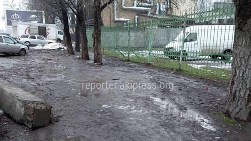 Жителям необходимо обратиться в районный акимиат с просьбой построить тротуар на ул.Кулиева, - мэрия