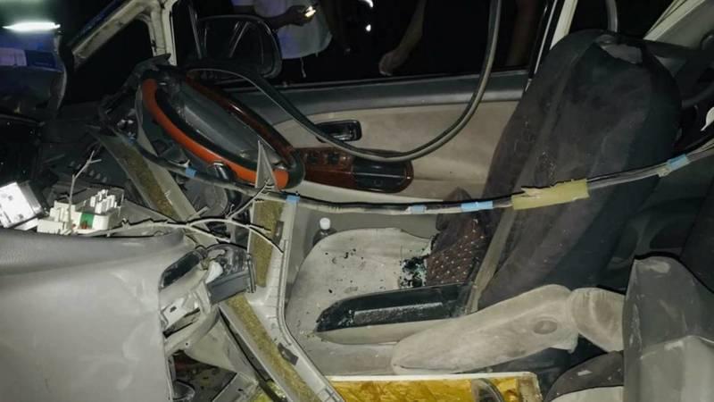 Жуткое ДТП на Южной магистрали. «Тойота» врезалась в дерево. Видео с места аварии