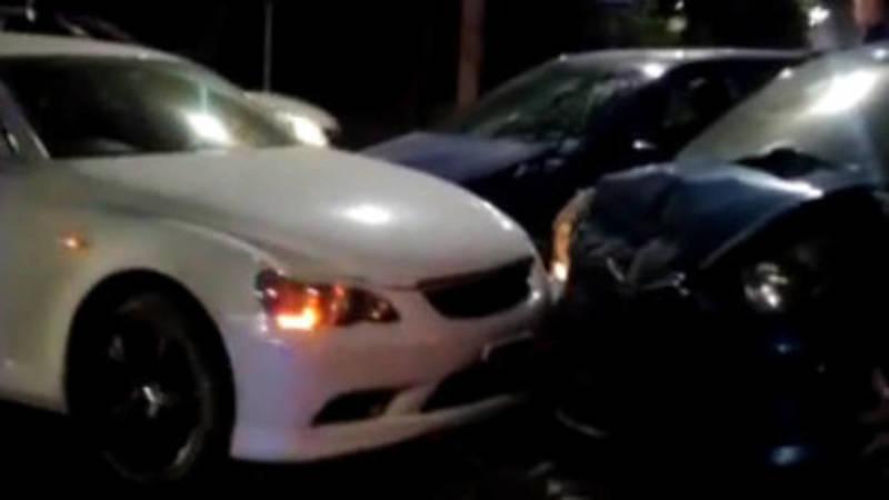 На ул.Тыныстанова произошла авария с участием трех машин