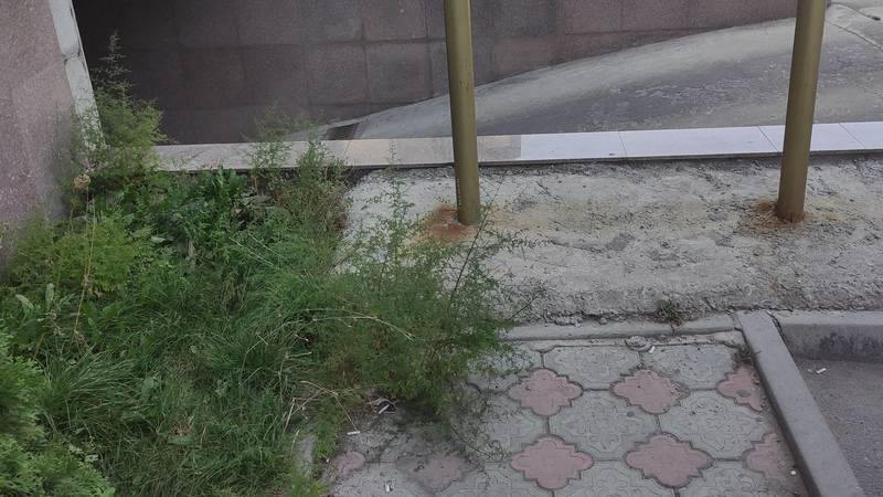 Тротуар по ул.Рыскулова упирается в никуда, - горожанин