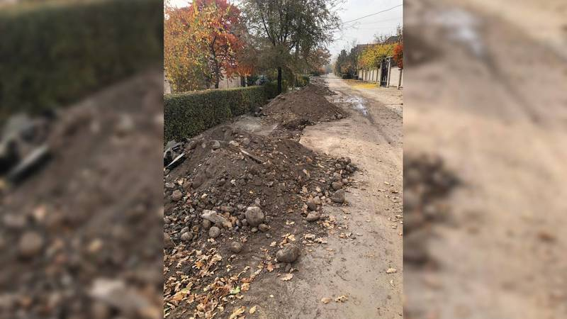 В жилмассиве Киргизия-1 разрушены дороги после газификации, - жалуется местный житель