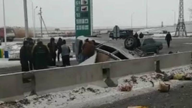 Страшная авария в Канте. Столкнулись КамАЗ и «Стэп». Видео
