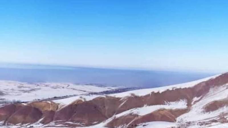 Смог над Бишкеком. Видео с горнолыжной базы