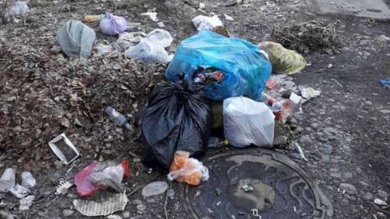 Бишкекчанин жалуется на мусор в 4 мкр. Фото