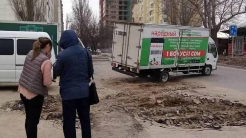 «Народный» оштрафован на 17 тыс. сомов за повреждение тротуара, - мэрия