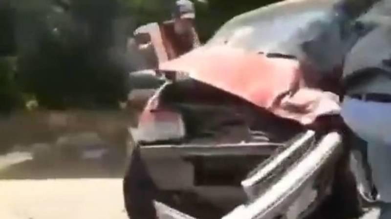 Страшное ДТП в Узгенском районе. Столкнулись «Тико», «Нексия» и «Фит». Видео с места аварии