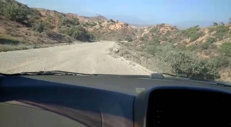 Водитель жалуется на состояние дороги Таш-Кумыр—Кербен—Ала-Бука