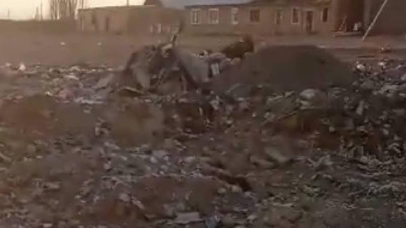 Видео — Свалка в селе Сары-Камыш