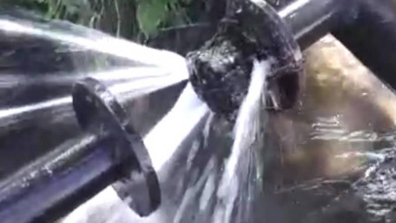 На ул.Ибраимова утечка питьевой воды, - горожанин
