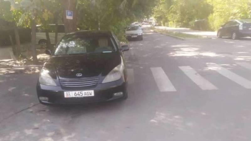 В отношении водителя Lexus ES 300, припаркованного на пешеходном переходе, составлен протокол