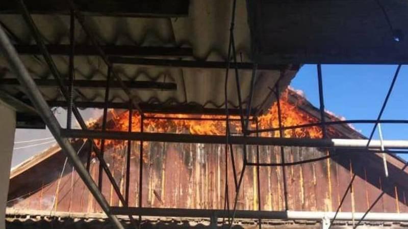 В Канте произошел пожар. Видео и фото