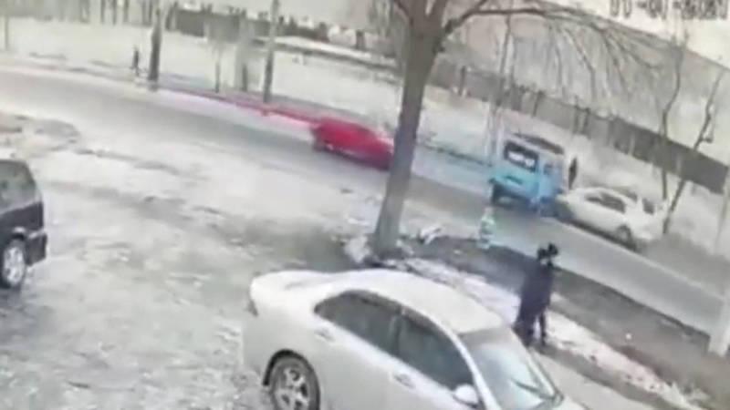 Момент ДТП в Пишпеке попал на видео