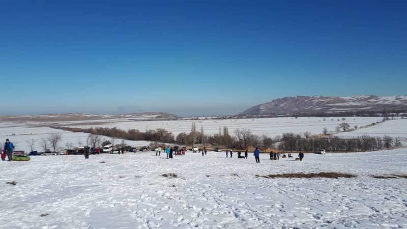 Смог над Бишкеком. Вид с местности Чон-Таш