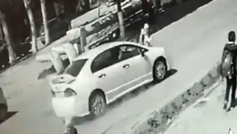 Автонаезд на девочку в Оше попал на видео