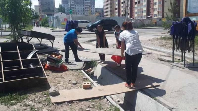 Продажа фруктов и овощей на Тыналиева-Минжилкиева была пресечена, - мэрия