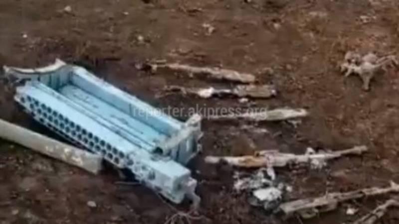 Видео с места, где совершил жесткую посадку военный вертолет