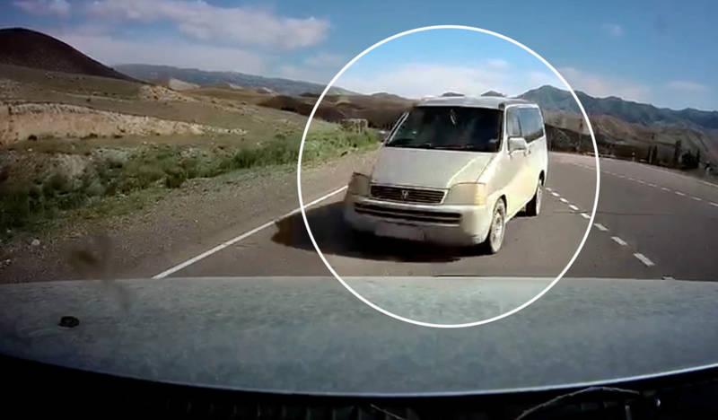 ДТП с жертвой в Нарынской области попало на видео