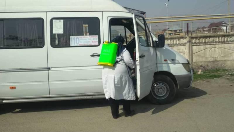 Коронавирус: В Жалал-Абаде за дезинфекцию общественного транспорта берут деньги?