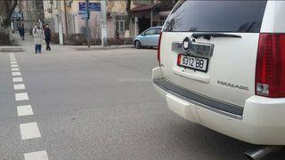 Парковка на «зебре» на Тыныстанова-Киевской