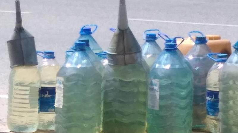 На ул.Подольская стихийно торгуют бензином, - очевидец. Фото