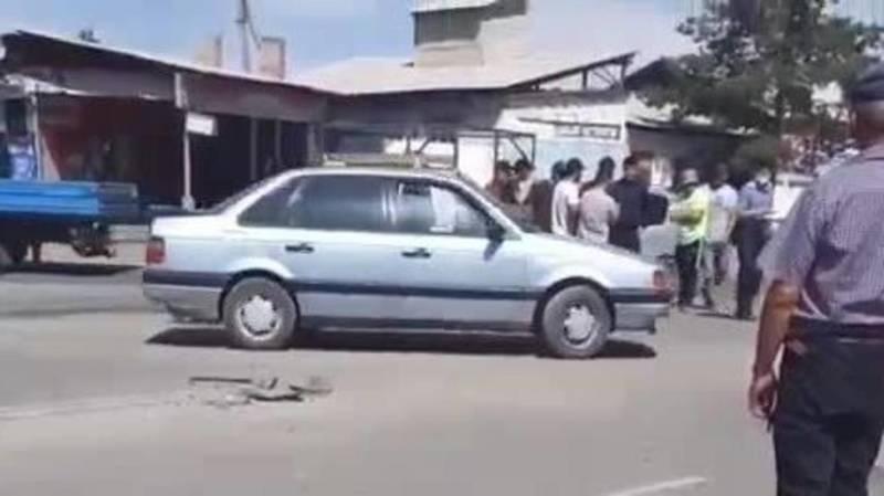 ДТП в городе Каракол. Видео с места аварии
