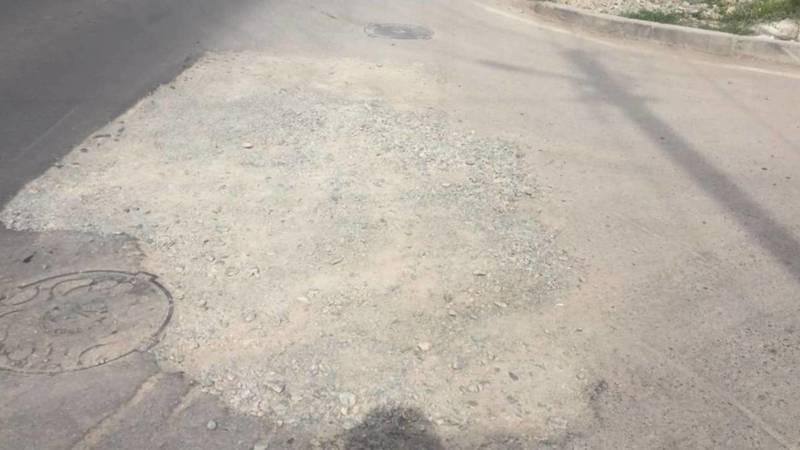 Коммунальные службы не восстановили асфальт на Щербакова после ремонтных работ. Фото горожанина