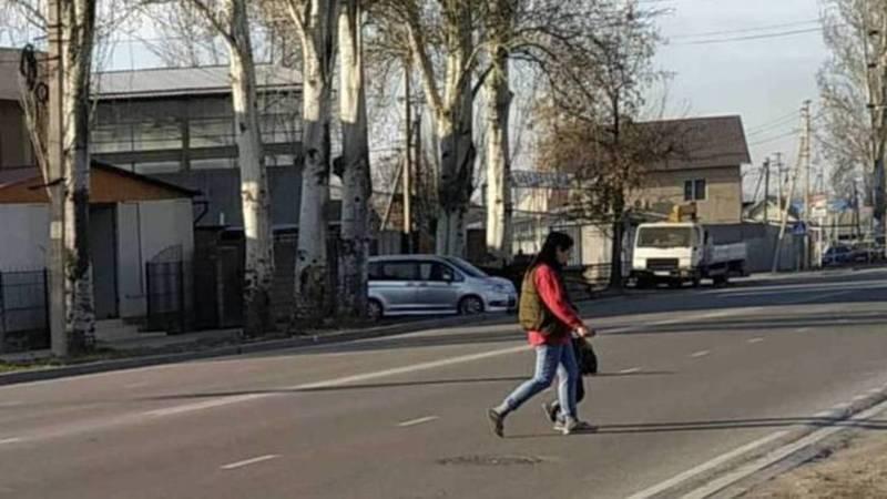 Когда будет нанесена разметка пешеходного перехода на ул.Тоголок Молдо возле школы №18? - горожанин Айбек