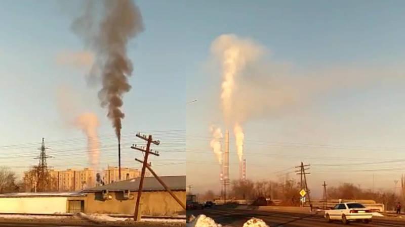 Горожанка жалуется за черный дым из трубы дома на Льва Толстого. Видео