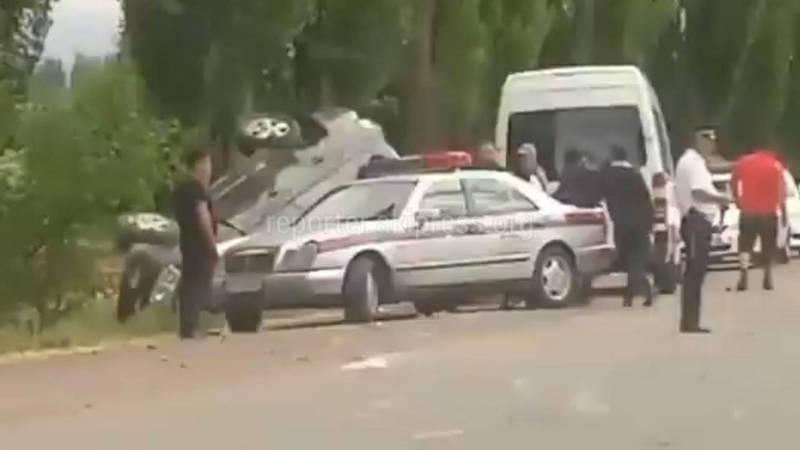 Видео с места ДТП с кортежем президента