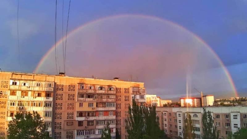 Радуга в Бишкеке. Фото горожан