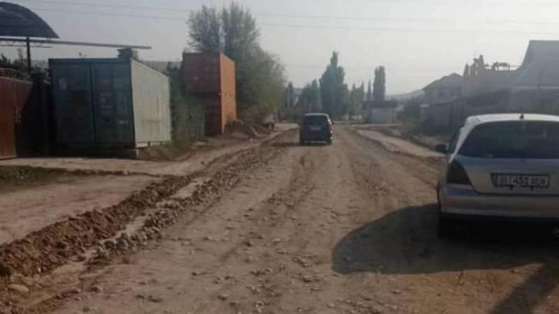 Мэрия восстановила дорогу по ул.Асылкеч в Арча-Бешике. Фото
