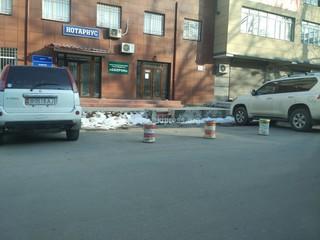 Бронь парковочных мест по улице Исанова в городе Бишкек.