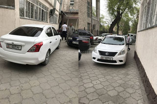 Парковка на тротуаре, блокировка выезда