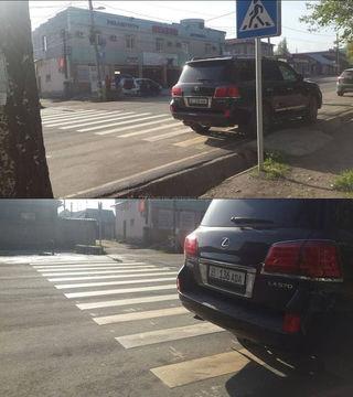Парковка на «зебре»