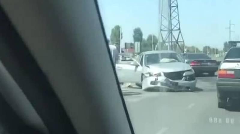 ДТП на Сыдыгалиева-Профсоюзная. Видео с места аварии