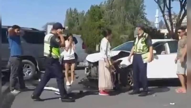 В Бишкеке произошло ДТП (видео, фото)