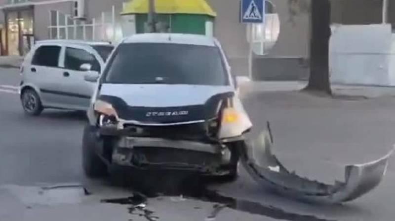На ул.Ахматбека Суюмбаева произошло ДТП, есть пострадавшие