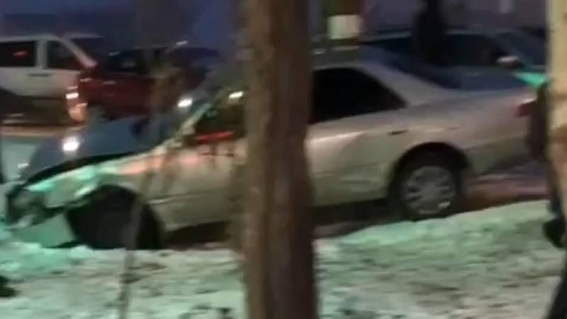 ДТП в Джале с участием 5 машин. Видео с места аварии