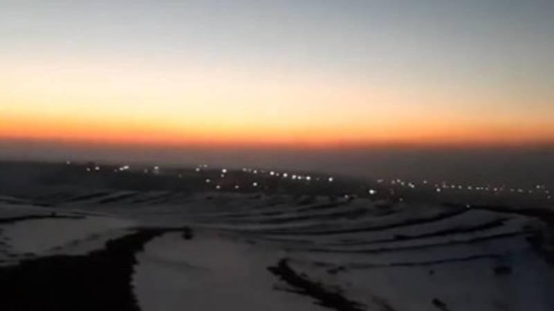 Смог над городом Ош. Видео