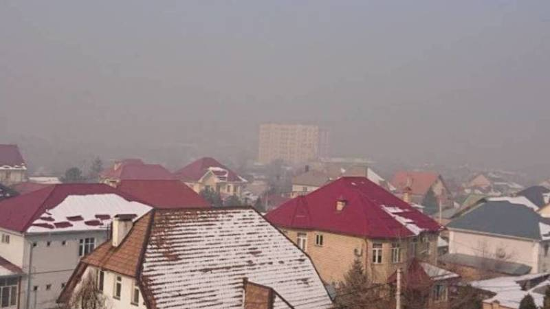 Смог над Бишкеком. Фото горожанина