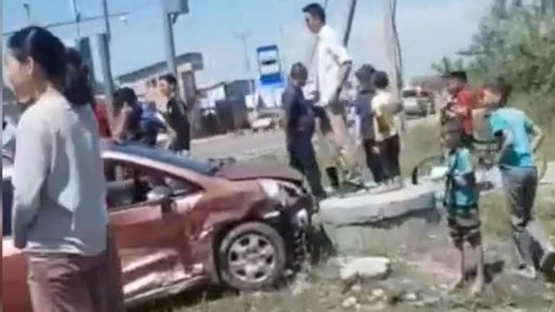 В Ак-Орго столкнулись «Ниссан» и «Тойота»