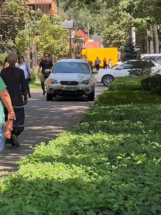 Езда по тротуару на ул.Абдрахманова