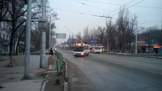 Троллейбус и автобус устроили автогонки по пр.Мира