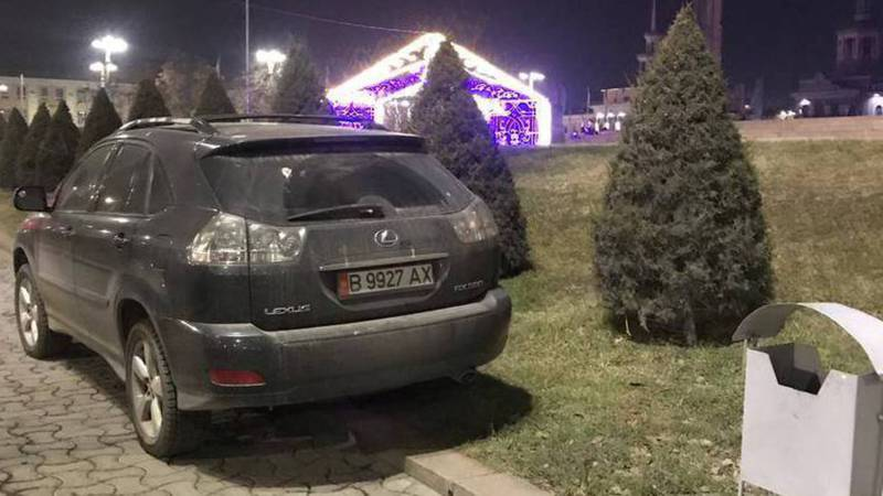 «Доска позора» Не соблюдение правил парковки, выезд на встречную полосу движения