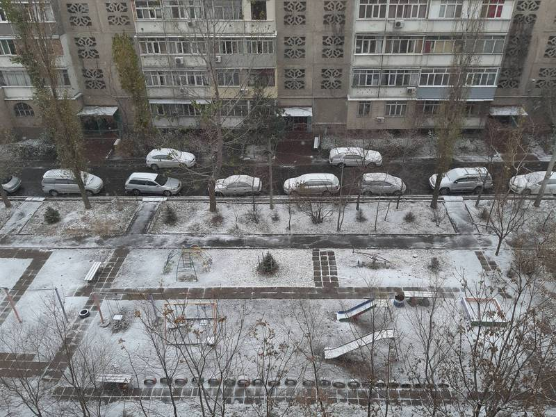 Снег в Бишкеке
